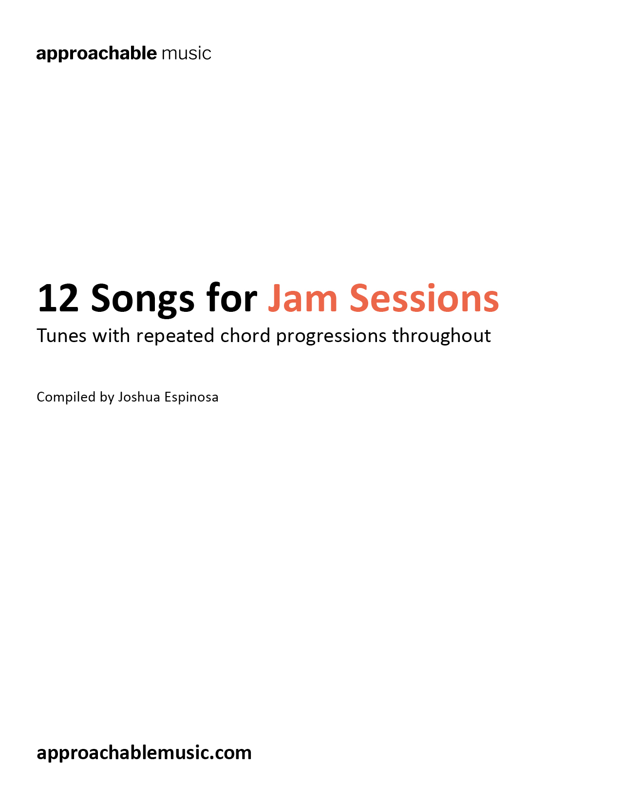 Songs with repeating chord progressions for jam sessions