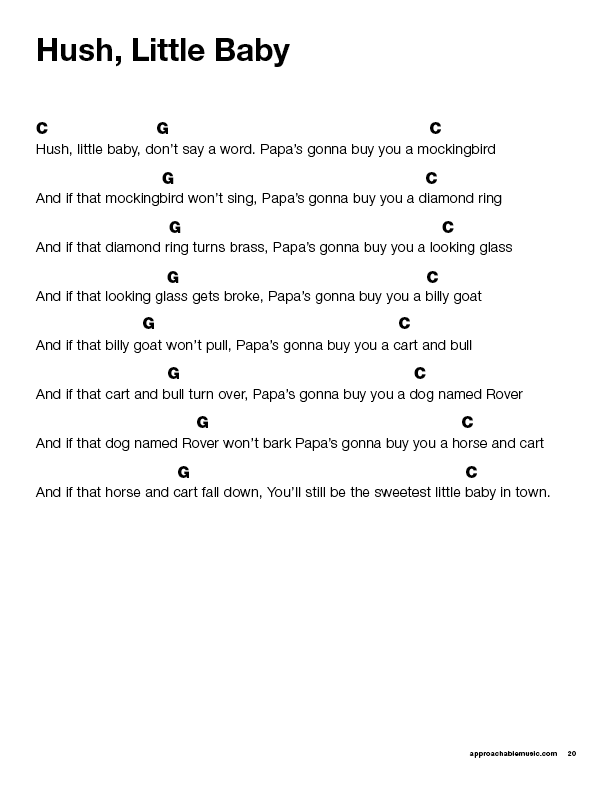 Easy Ukulele Songs for Kids PDF preview page